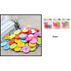 5pcs 3cm mix colour button