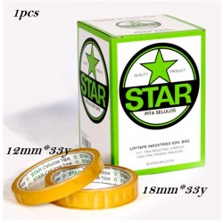 12 x 33y stationery tape (star)-12pcs **