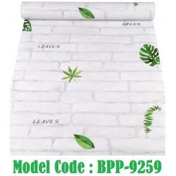 9259 Green Leaves Brick wallpaper W45cm*L10meter