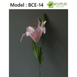 1PCS Artificial Lily Flower (Pink)