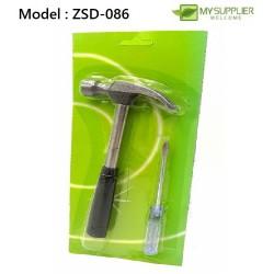 2in1 Nail Hammer 18cm & Screwdriver 16cm