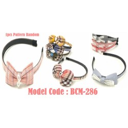 1pcs Stripe Ribbon Hair Band with pearl hairband