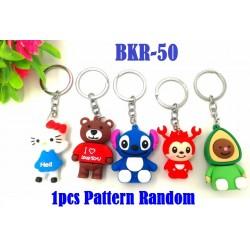 1pcs Rubber Cartoon Key Chain 4cm+ -