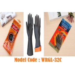 1pairs Black Rubber Gloves*