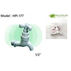 1/2inch PVC Bib Tap - Tri Handle Wiraplast