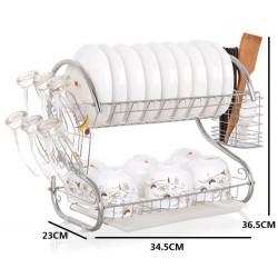 s/steel  2-layer dish drainer