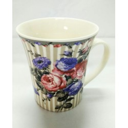 9.5*9cm stripe rose cup