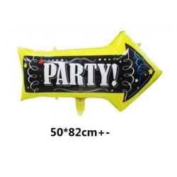 party arrow foil ballon