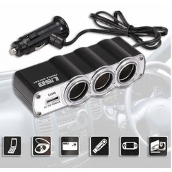car charger(3 socket 1usb port)