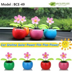 Solar Powered Flip Flap Dancing Flower For Car Decoration