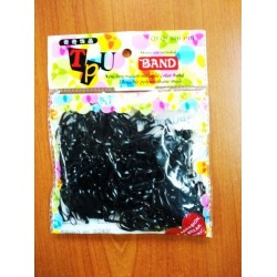 black rubber hair band