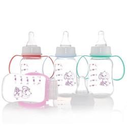 plastic baby bottle with handle 150ml