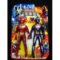 2 ultraman toy set 17cm