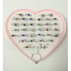 18k crystal ring