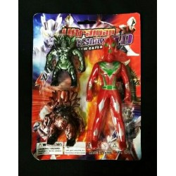2010 17cm ultraman + 8cm 2monster toy set