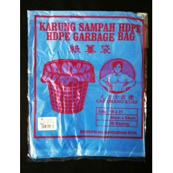 46x54cm+ -30pcs blue plastic bag