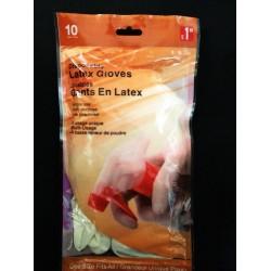 10pcs Latex Gloves