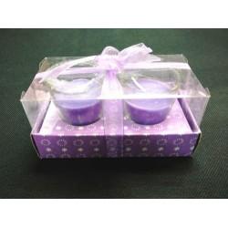 fslh021 2pcs glass candle(long)