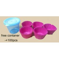 5in1 (100pcs±)W5cmXH3cm cup cake paper