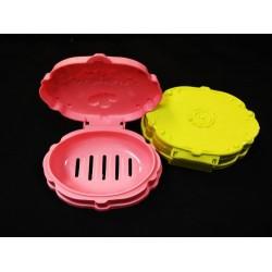 78d-2076 2pcs oval flower soap box