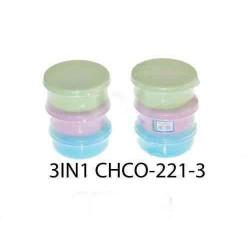 yokafo 400ml  3pcs colour container*