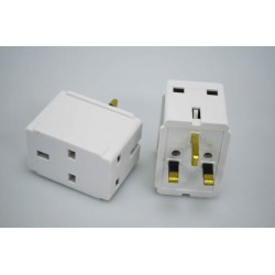 7387 UK 13A 3way Adapter