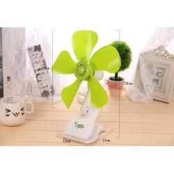 Leaf Super Quiet Soft Wind Household Mute Mini Fan Ceiling Mini Fan Energy Savin
