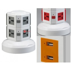 2 layer multi plug with usb port