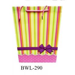 290*140*395mm big paper bag w/stripe(m)