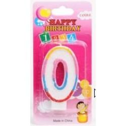 no.0 birthday candle